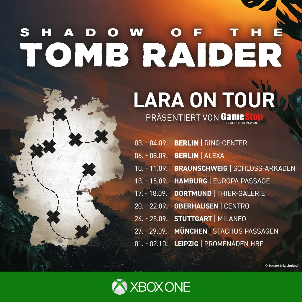 Shadow of the Tomb Raider Tour
